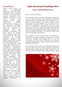 Snowflake Blizzard Word Template, First Inner Page, 08964, Holiday/Special Occasion — PoweredTemplate.com