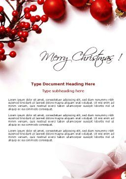 Rowanberry Word Template, Cover Page, 08966, Holiday/Special Occasion — PoweredTemplate.com