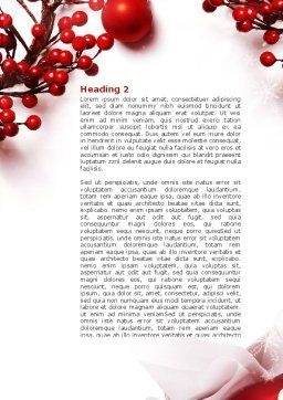 Rowanberry Word Template, Second Inner Page, 08966, Holiday/Special Occasion — PoweredTemplate.com