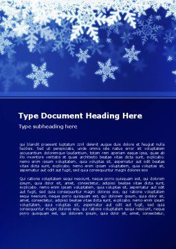 Snowflakes Night Word Template, Cover Page, 08967, Holiday/Special Occasion — PoweredTemplate.com