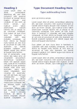 Snowflakes Night Word Template, First Inner Page, 08967, Holiday/Special Occasion — PoweredTemplate.com