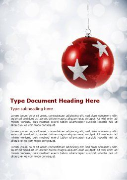 Christmassy Word Template, Cover Page, 08968, Holiday/Special Occasion — PoweredTemplate.com