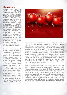 Christmassy Word Template, First Inner Page, 08968, Holiday/Special Occasion — PoweredTemplate.com