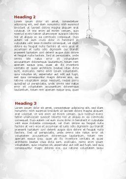 Christmassy Word Template, Second Inner Page, 08968, Holiday/Special Occasion — PoweredTemplate.com