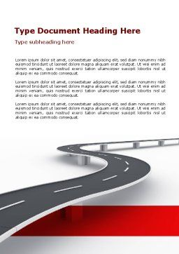 Road Overpass Word Template, Cover Page, 08970, Construction — PoweredTemplate.com