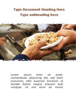 Charitable Food Word Template Cover Page