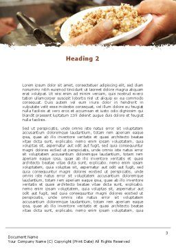 Charitable Food Word Template Second Inner Page