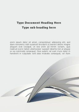 Gray Arch Word Template, Cover Page, 08974, Construction — PoweredTemplate.com