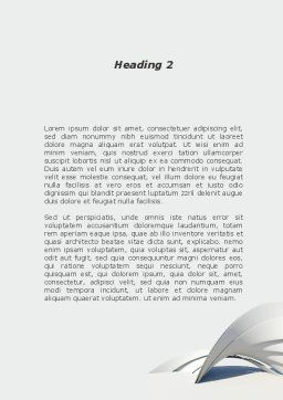 Gray Arch Word Template, Second Inner Page, 08974, Construction — PoweredTemplate.com