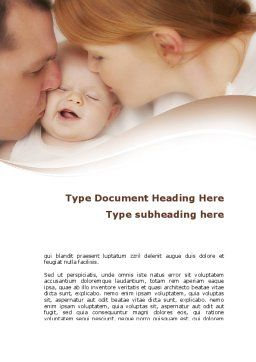 Baby's Family Word Template, Cover Page, 08978, People — PoweredTemplate.com