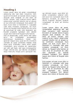 Baby's Family Word Template, First Inner Page, 08978, People — PoweredTemplate.com