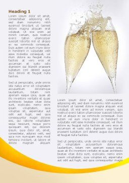 Splash Of Champagne Word Template, First Inner Page, 08980, Food & Beverage — PoweredTemplate.com