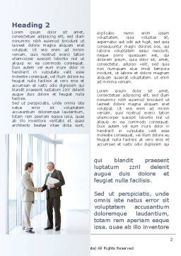 Business Meeting In A Lobby Word Template First Inner Page