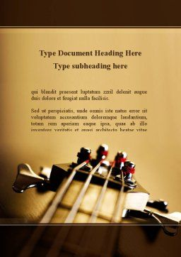 Bass Guitar Word Template Cover Page