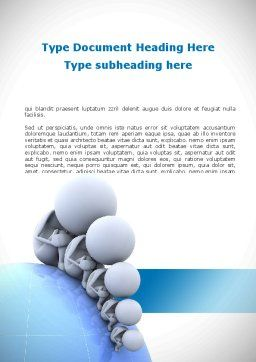 Population Growth Word Template, Cover Page, 08991, Global — PoweredTemplate.com