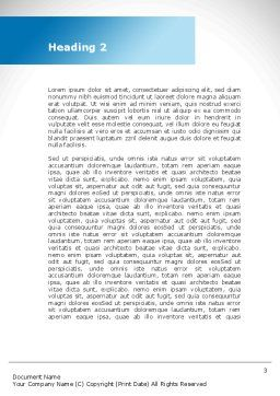 Population Growth Word Template, Second Inner Page, 08991, Global — PoweredTemplate.com