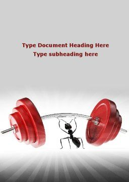 Ant Under the Weight Word Template, Cover Page, 08998, Consulting — PoweredTemplate.com