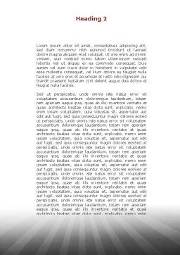 Ant Under the Weight Word Template, Second Inner Page, 08998, Consulting — PoweredTemplate.com