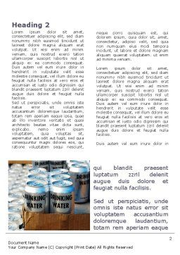 Cans of Water Word Template, First Inner Page, 08999, Careers/Industry — PoweredTemplate.com