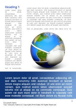 Pandemic Disease Word Template, First Inner Page, 09000, Medical — PoweredTemplate.com