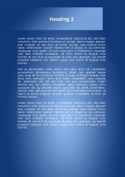 Pandemic Disease Word Template, Second Inner Page, 09000, Medical — PoweredTemplate.com