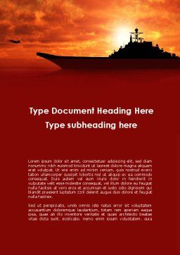 Heavy Aircraft Carrying Cruiser Word Template, Cover Page, 09002, Military — PoweredTemplate.com