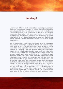Heavy Aircraft Carrying Cruiser Word Template, Second Inner Page, 09002, Military — PoweredTemplate.com