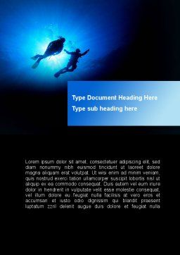 Diving Under The Sea Word Template Cover Page