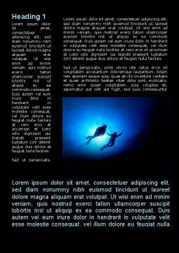 Diving Under The Sea Word Template First Inner Page