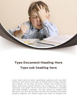 Educational Problems Word Template Cover Page