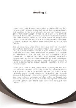Educational Problems Word Template Second Inner Page