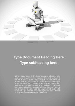 Artificial Man Word Template, Cover Page, 09007, Careers/Industry — PoweredTemplate.com