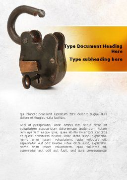 Massive Padlock Word Template, Cover Page, 09008, Consulting — PoweredTemplate.com