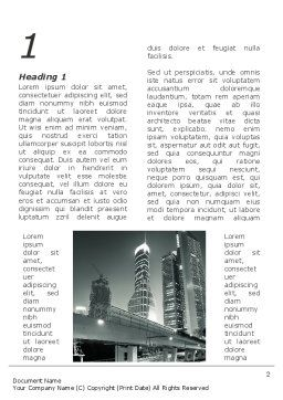 Night City Traffic Word Template, First Inner Page, 09013, Construction — PoweredTemplate.com