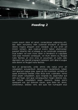 Night City Traffic Word Template, Second Inner Page, 09013, Construction — PoweredTemplate.com