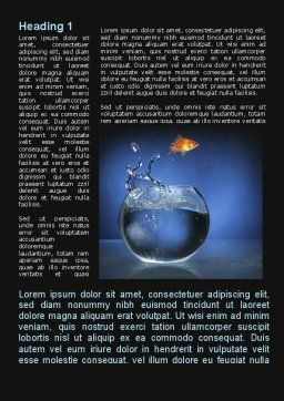 Aquarium Fish is Jumping Word Template, First Inner Page, 09014, Business Concepts — PoweredTemplate.com