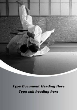 Japan Martial Arts Word Template, Cover Page, 09016, Sports — PoweredTemplate.com
