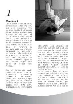 Japan Martial Arts Word Template, First Inner Page, 09016, Sports — PoweredTemplate.com