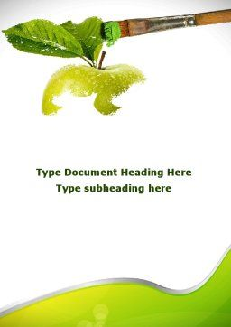 Painting Apple Word Template Cover Page