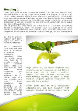 Painting Apple Word Template First Inner Page