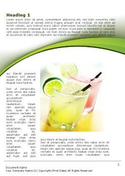 Cocktail with Lemon Word Template, First Inner Page, 09020, Food & Beverage — PoweredTemplate.com