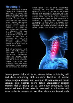 Pain Of The Neck Word Template, First Inner Page, 09023, Medical — PoweredTemplate.com