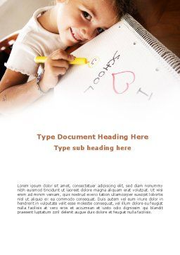 I Love School Word Template, Cover Page, 09024, Education & Training — PoweredTemplate.com