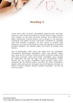I Love School Word Template, Second Inner Page, 09024, Education & Training — PoweredTemplate.com