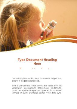 Respiratory Disease Word Template, Cover Page, 09026, Medical — PoweredTemplate.com