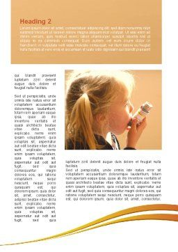 Respiratory Disease Word Template, First Inner Page, 09026, Medical — PoweredTemplate.com