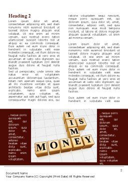 Time is Money In Cubes Word Template, First Inner Page, 09027, Business Concepts — PoweredTemplate.com