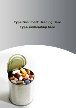 Chemistry And Drugs In Food Word Template, Cover Page, 09028, Medical — PoweredTemplate.com