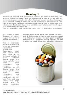 Chemistry And Drugs In Food Word Template, First Inner Page, 09028, Medical — PoweredTemplate.com