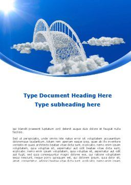 Dream Bridge Word Template Cover Page